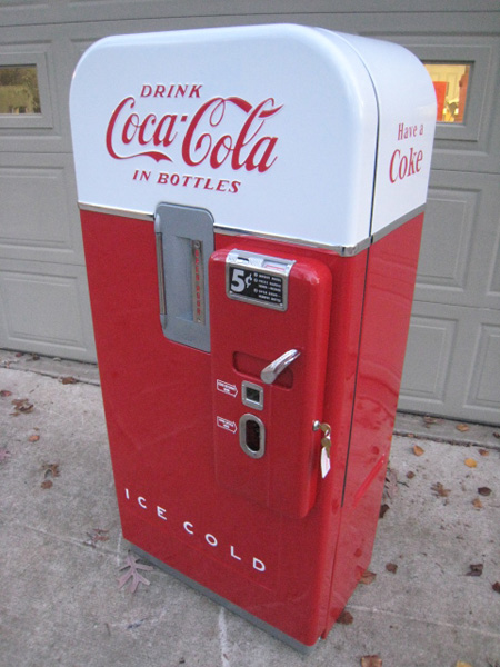 vintage soda machine restoration