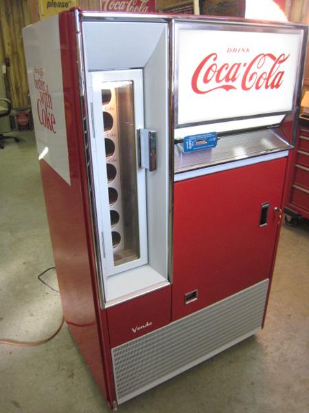 vintage coke machine repair