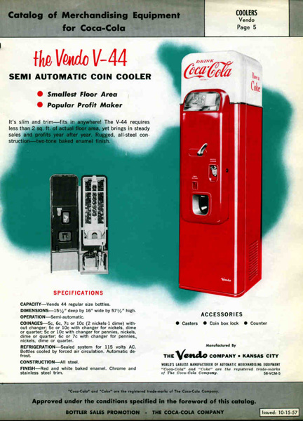 Vendo Coke Machine History and Serial Numbers on