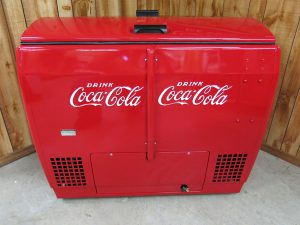 "18/"" /""ICE COLD/"" BLUE HORIZONTAL COCA COLA PEPSI COOLER POP MACHINE"
